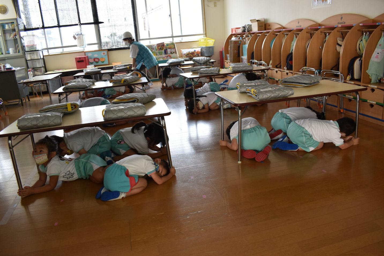 地震 津波避難訓練